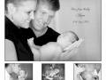 Our first baby Flynn with proud mum Angie and Dad Matt